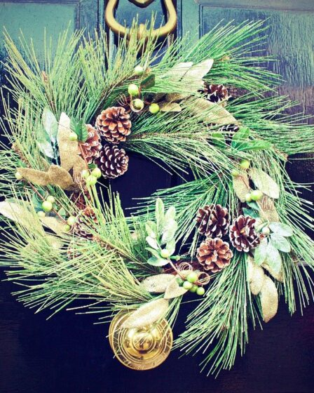 Fir and fircones Xmas Wreath, what Jobs to do in the garden in December