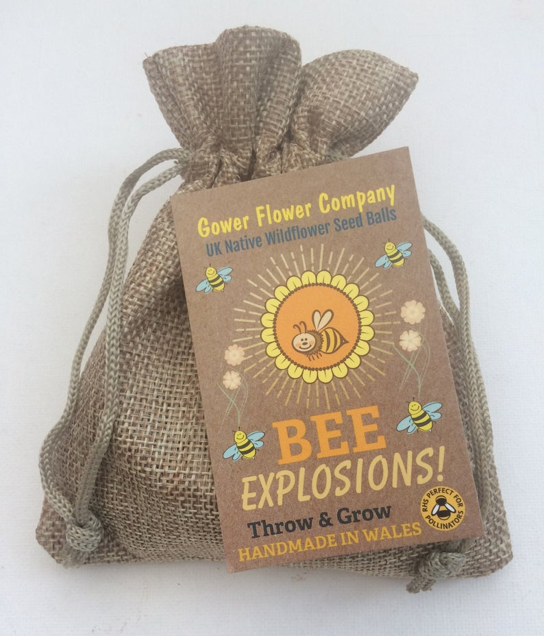 Bee Bomb, Jute bag of Wildflower seeds