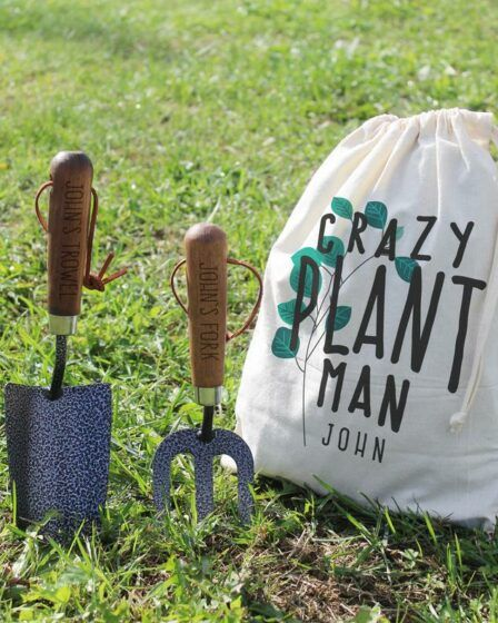 Engraved garden hand tools and storage bag, 10 Great Father's Day gardening gift ideas