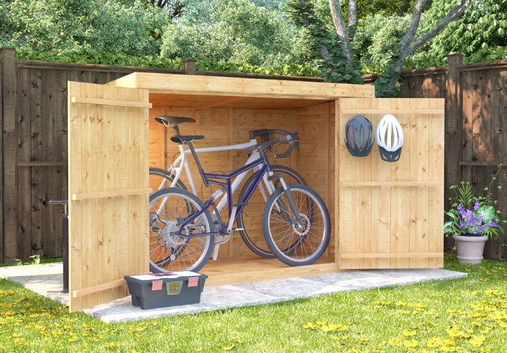 Pent Roof Bike Garden Store
