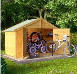 Apex Roof Bike Garden Store