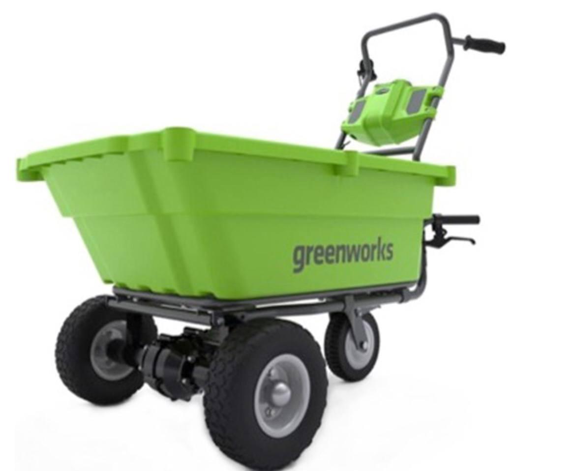 Green battery powered garden cart. 5 Best Rated Garden Carts