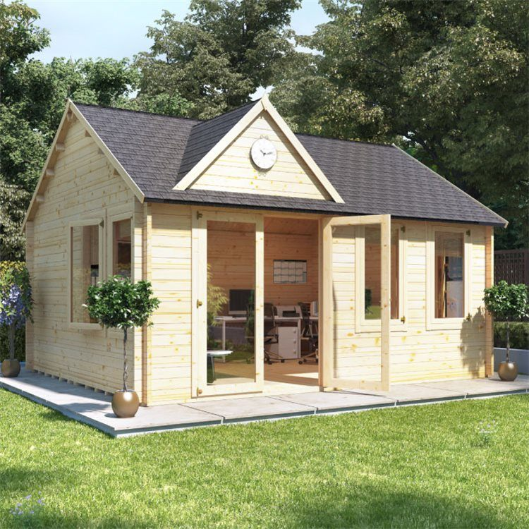 Log Cabin Style Summer House With Dorma