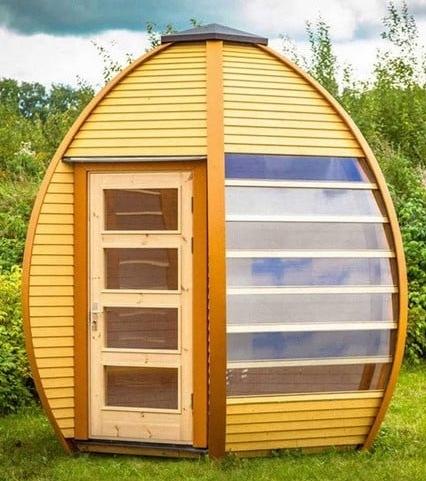 Timber pod, egg shaped garden room. Best Price Summer Houses In Your Garden